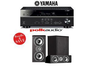 Yamaha RX-V581BL 7.2-Channel Network A/V Receiver + Polk Audio TSi 200 + Polk Audio CS10 - 3.0 Home Theater Package