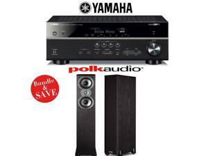 Yamaha RX-V581BL 7.2-Channel Network A/V Receiver + (1) Pair of Polk Audio TSi 300 Floorstanding Loudspeakers - Bundle