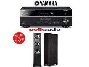 Yamaha RX-V581BL 7.2-Channel Network A/V Receiver + (1) Pair of Polk Audio TSi 400 Floorstanding Loudspeakers - Bundle