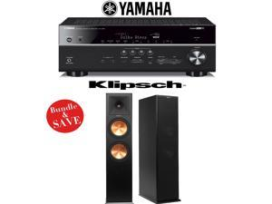 Yamaha RX-V681BL 7.2-Channel 4K Network A/V Receiver + (1) Pair of Klipsch RP-280F Reference Premiere Dual 8-Inch Floorstanding Loudspeakers