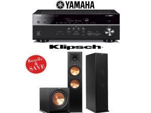 Yamaha RX-V681BL 7.2-Channel 4K Network A/V Receiver + Klipsch RP-280F + Klipsch R-112SW - 2.1 Reference Premiere Package