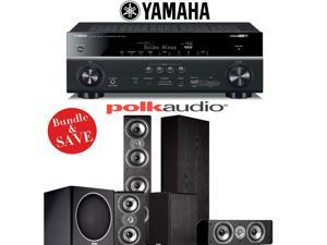 Yamaha RX-V781BL 7.2-Channel 4K A/V Receiver + Polk Audio TSi 500 + Polk Audio TSi 200 + Polk Audio CS10 + Polk Audio PSW110 - 5.1 Home Theater System