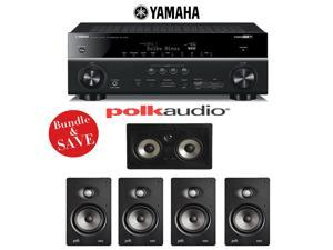 Yamaha RX-V781BL 7.2-Channel 4K A/V Receiver + Polk Audio V65 5.0 In-Wall Home Theater Speaker System