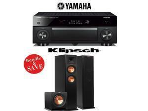 Yamaha RX-A1060BL AVENTAGE 7.2-Channel Dolby Atmos Network A/V Receiver + Klipsch RP-250F + Klipsch R-110SW - 2.1 Reference Premiere Home Theater Package
