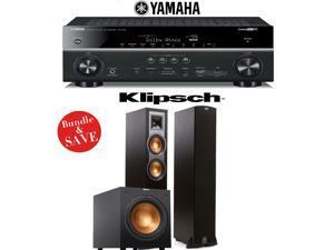 Yamaha RX-V781BL 7.2-Channel 4K A/V Receiver + Klipsch R-26F + Klipsch R-12SW - 2.1 Reference Home Theater Package