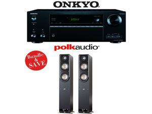 Onkyo TX-NR656 7.2 Channel Network A/V Receiver + (1) Pair of Polk Audio Signature S50 Floorstanding Speakers - Bundle