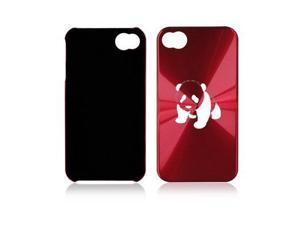 Apple iPhone 4 4S 4G Rose Red A161 Aluminum Hard Back Case Baby Panda