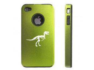 Apple iPhone 4 4S 4G Green DD131 Aluminum & Silicone Case Dinosaur Fossil