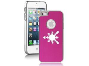 Apple iPhone 5 Hot Pink 5E1899 Aluminum Plated Chrome Hard Back Case Cover Philippines