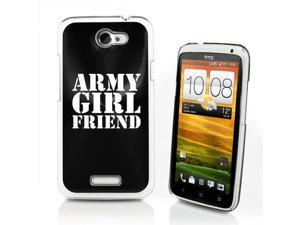 Black HTC One X Aluminum Plated Hard Back Case Cover P520 Army Girlfriend