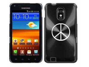 Black Samsung Galaxy S II Epic 4g Touch Aluminum Plated Hard Back Case Cover H67 Peace Sign
