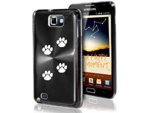 Samsung Galaxy Note i9220 i717 N7000 Black F92 Aluminum Plated Hard Case Paw Prints