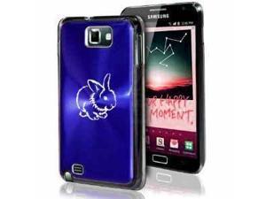 Samsung Galaxy Note i9220 i717 N7000 Blue F109 Aluminum Plated Hard Case Cute Bunny