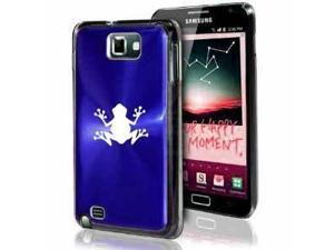 Samsung Galaxy Note i9220 i717 N7000 Blue F130 Aluminum Plated Hard Case Frog