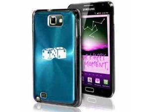 Samsung Galaxy Note i9220 i717 N7000 Light Blue F226 Aluminum Plated Hard Case Dice