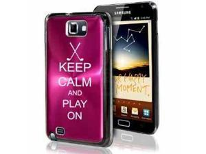 Samsung Galaxy Note i9220 i717 N7000 Hot Pink F427 Aluminum Plated Hard Case Keep Calm and Play On Golf