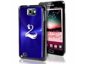 Samsung Galaxy Note i9220 i717 N7000 Blue F163 Aluminum Plated Hard Case Swan