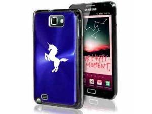 Samsung Galaxy Note i9220 i717 N7000 Blue F177 Aluminum Plated Hard Case Unicorn
