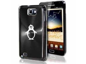 Samsung Galaxy Note i9220 i717 N7000 Black F143 Aluminum Plated Hard Case Penguin
