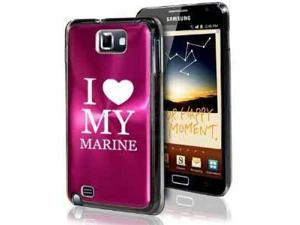 Samsung Galaxy Note i9220 i717 N7000 Hot Pink F625 Aluminum Plated Hard Case I Love My Marine