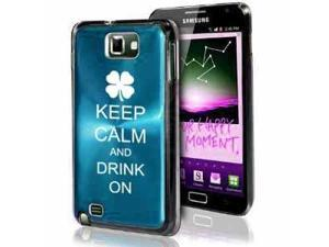 Samsung Galaxy Note i9220 i717 N7000 Light Blue F400 Aluminum Plated Hard Case Keep Calm and Drink On