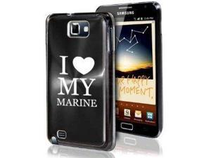Samsung Galaxy Note i9220 i717 N7000 Black F621 Aluminum Plated Hard Case I Love My Marine