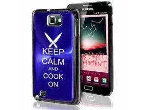 Samsung Galaxy Note i9220 i717 N7000 Blue F326 Aluminum Plated Hard Case Keep Calm and Cook On Chef Knives