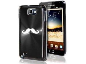 Samsung Galaxy Note i9220 i717 N7000 Black F276 Aluminum Plated Hard Case Mustache
