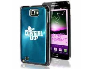 Samsung Galaxy Note i9220 i717 N7000 Light Blue F512 Aluminum Plated Hard Case Cowgirl Up