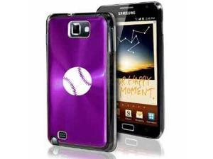 Samsung Galaxy Note i9220 i717 N7000 Purple F193 Aluminum Plated Hard Case Baseball