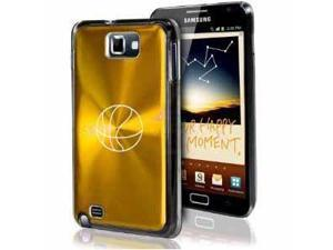 Samsung Galaxy Note i9220 i717 N7000 Gold F203 Aluminum Plated Hard Case Basketball