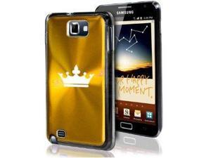 Samsung Galaxy Note i9220 i717 N7000 Gold F25 Aluminum Plated Hard Case Crown