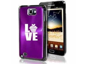 Samsung Galaxy Note i9220 i717 N7000 Purple F303 Aluminum Plated Hard Case Love Cupcake