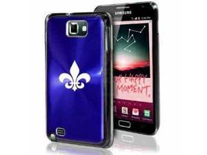 Samsung Galaxy Note i9220 i717 N7000 Dark Blue F69 Aluminum Plated Hard Case Fleur-de-lis