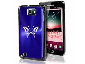 Samsung Galaxy Note i9220 i717 N7000 Dark Blue F83 Aluminum Plated Hard Case Tribal Butterfly