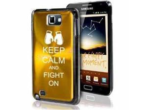 Samsung Galaxy Note i9220 i717 N7000 Yellow Gold F411 Aluminum Plated Hard Case Keep Calm and Fight On Boxing Gloves