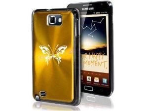 Samsung Galaxy Note i9220 i717 N7000 Gold F81 Aluminum Plated Hard Case Tribal Butterfly