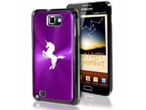 Samsung Galaxy Note i9220 i717 N7000 Purple F182 Aluminum Plated Hard Case Unicorn