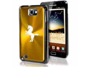 Samsung Galaxy Note i9220 i717 N7000 Gold F178 Aluminum Plated Hard Case Unicorn