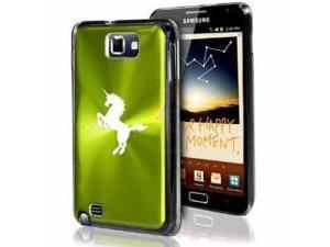 Samsung Galaxy Note i9220 i717 N7000 Green F179 Aluminum Plated Hard Case Unicorn