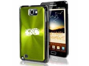Samsung Galaxy Note i9220 i717 N7000 Green F231 Aluminum Plated Hard Case Dice