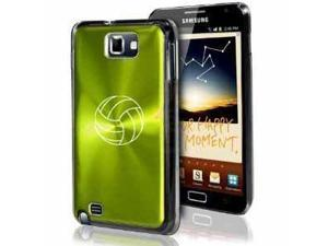 Samsung Galaxy Note i9220 i717 N7000 Green F259 Aluminum Plated Hard Case Volleyball