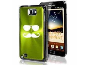 Samsung Galaxy Note i9220 i717 N7000 Green F321 Aluminum Plated Hard Case Sunglasses Mustache