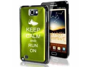 Samsung Galaxy Note i9220 i717 N7000 Green F475 Aluminum Plated Hard Case Keep Calm and Run On