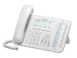 Panasonic KX-NT556 VoIP Phone White New 6-Line Backlit LCD IP Phone w/ 8 Buttons Self Labeling Programable Keys, 2 Giga-Bit Ports, Built In EHS