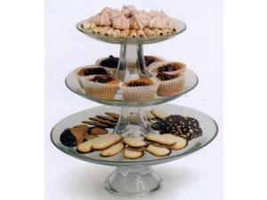 Anchor Hocking Cake Stand Set - Glass - Pedestal