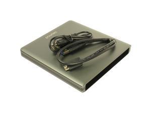 Pawtec Luxury Slim Aluminum USB 3.0 External Enclosure For Optical SATA Drive Blu-Ray DVD MAC / PC - Gray Edition