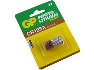 CR123A Photo Lithium Battery - Premium Quality GP CR123A Battery (Retail Package)