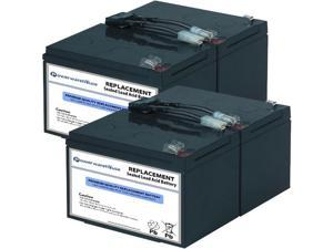 Powerwarehouse APC SMT1000tw UPS Battery - Premium Powerwarehouse 12V Lead Acid Battery Catridge #6 (2 Pack)