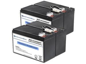 Powerwarehouse APC Back UPS BN1250LCD UPS Battery - Premium Powerwarehouse 12V Lead Acid Battery Catridge #109 (2 Pack)